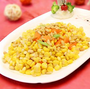 松子炒玉米
