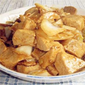 蚝油肉片烧豆腐