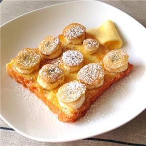 法式香蕉煎面包