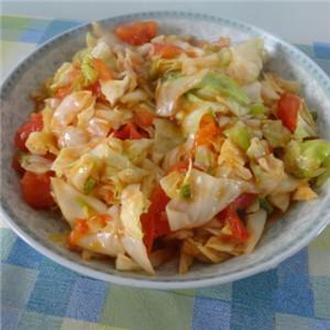 番茄酱炒圆白菜